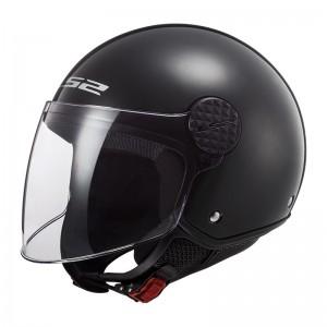 Casco jet LS2 Helmets OF558 SPHERE Solid Negro