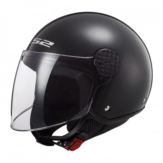 Casco jet LS2 Helmets OF558 SPHERE Solid Negro