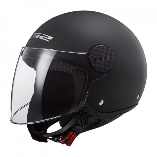 Casco jet LS2 Helmets OF558 SPHERE Solid Negro Mate