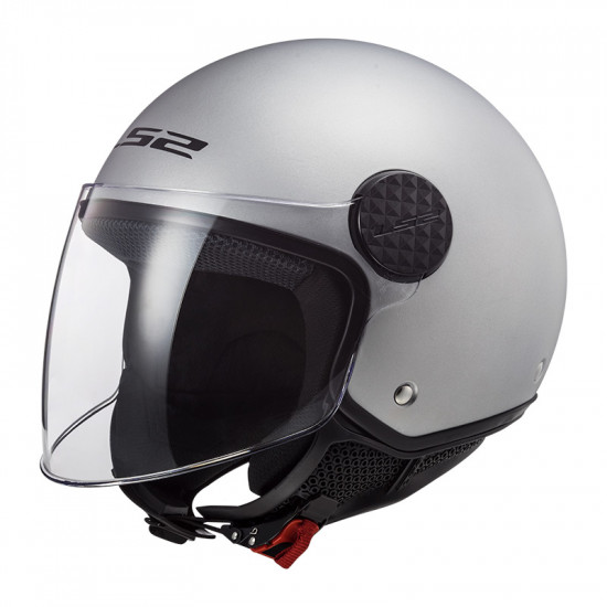 Casco jet LS2 Helmets OF558 SPHERE Solid Plata