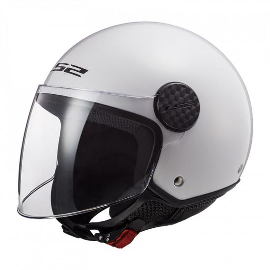 Casco jet LS2 Helmets OF558 SPHERE Solid Blanco