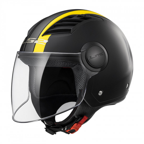 Casco jet LS2 Helmets OF562 AIRFLOW L METROPOLIS Matt Black Yellow
