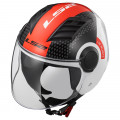 Casco jet LS2 Helmets OF562 AIRFLOW L CONDOR White Black Red