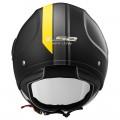 Casco jet LS2 Helmets OF562 AIRFLOW L METROPOLIS Matt Black Yellow