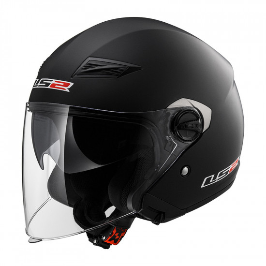 Casco jet LS2 Helmets OF569 TRACK SOLID Matt-Black