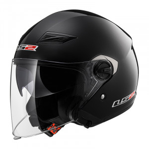 Casco jet LS2 Helmets OF569 TRACK SOLID Black