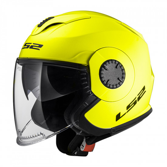 Casco jet LS2 Helmets OF570 VERSO Solid H-V Yellow