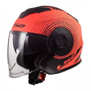 SUPEROFERTA Casco jet LS2 Helmets OF570 VERSO Spin Matt Fluo Orange
