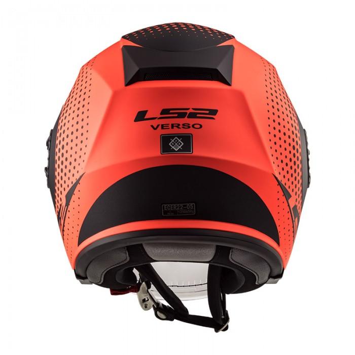 Casco jet LS2 Helmets OF570 VERSO Spin Matt Fluo Orange