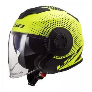 SUPEROFERTA Casco jet LS2 Helmets OF570 VERSO Spin Matt HV Yellow