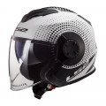 Casco jet LS2 Helmets OF570 VERSO Spin White Black