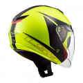 Casco jet LS2 OF573 TWISTER II Plane Yellow Black Red