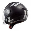 Casco jet LS2 OF573 TWISTER II Combo Black Rainbow