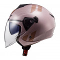 Casco jet LS2 OF573 TWISTER II Combo Pale Pink