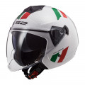Casco jet LS2 OF573 TWISTER II Combo White Green Red