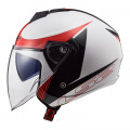 SUPEROFERTA: Casco jet LS2 OF573 TWISTER II Plane White Black Red