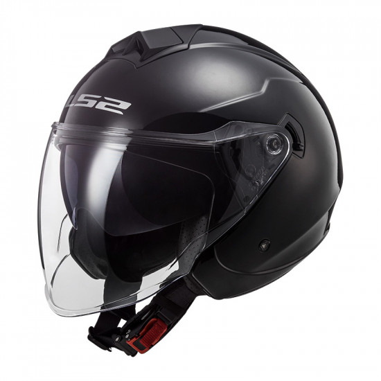 Casco jet LS2 OF573 TWISTER II Solid Black