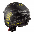 SUPEROFERTA Casco jet LS2 Helmets OF599 SPITFIRE Garage Matt Black Yellow