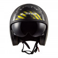 Casco jet LS2 Helmets OF599 SPITFIRE Garage Matt Black Yellow