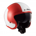 Casco jet LS2 Helmets OF599 SPITFIRE Rim Red White