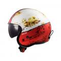 Casco jet LS2 Helmets OF599 SPITFIRE Rust White Red