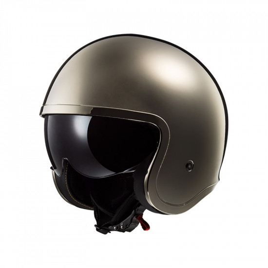 Casco jet LS2 Helmets OF599 SPITFIRE Solid Chrome