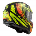 Casco integral LS2 Helmets FF320 STREAM EVO THRONE Matt Black HV Yellow