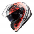 Casco integral LS2 Helmets FF320 STREAM EVO THRONE White Orange