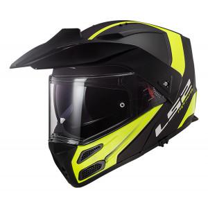 Casco moto convertible LS2 FF324 METRO PJ EVO Rapid Matt Black HV Yellow