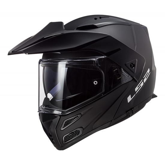 Casco moto convertible LS2 FF324 METRO PJ EVO Solid Matt Black