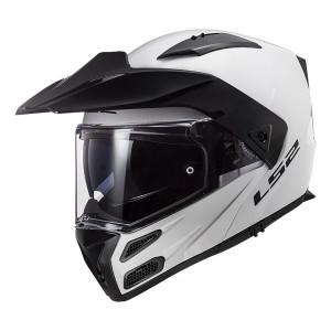Casco moto convertible LS2 FF324 METRO PJ EVO Solid White