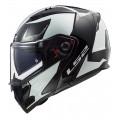 Casco moto convertible LS2 FF324 METRO PJ EVO Sub Black Glow Light