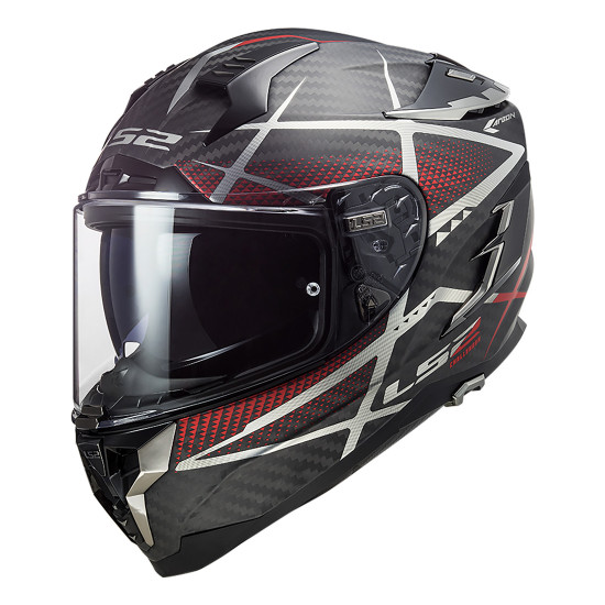 Casco integral LS2 FF327 Challenger C KONIC Matt Carbon Red