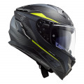 Casco integral LS2 FF327 Challenger C DRONE Matt Carbon HV Yellow