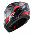 Casco integral LS2 FF327 Challenger C KONIC Blue Carbon Red