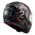 Casco integral LS2 Helmets FF353 RAPID Circle Matt Titanium Fluo Orange