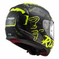 Casco integral LS2 Helmets FF353 RAPID Naughty Matt Black HV Yellow