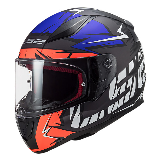 Casco integral LS2 Helmets FF353 RAPID Chromo Matt Fluo Orange Blue