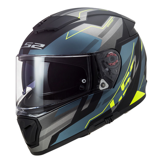 SUPEROFERTA Casco integral LS2 FF390 BREAKER Beta Matt Cobalt HV Yellow