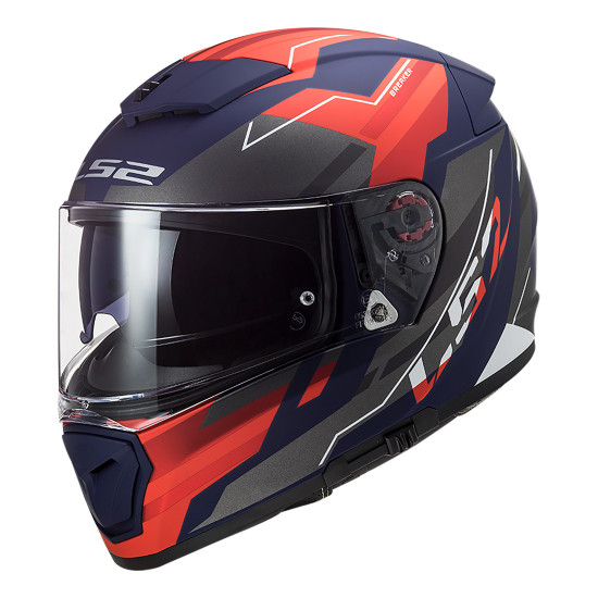 Casco integral LS2 FF390 BREAKER Beta Matt Red Blue