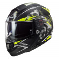 Casco integral LS2 Helmets FF397 VECTOR HPFC EVO Stencil Matt Black HV Yellow