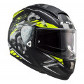 Casco integral LS2 Helmets FF397 VECTOR HPFC EVO Stencil Matt Black HV Yellow