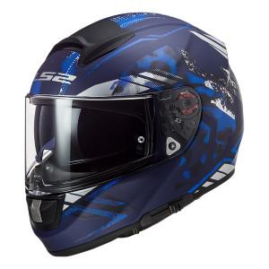 Casco integral LS2 Helmets FF397 VECTOR HPFC EVO Stencil Matt Blue