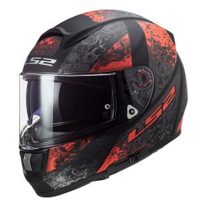 Casco integral LS2 Helmets FF397 VECTOR HPFC EVO Swipe Matt Black Red