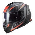 Casco integral LS2 FF800 STORM Racer Matt Titanium Fluo Orange