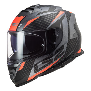 Casco integral LS2 FF800 STORM Racer Matt Titanium Fluo Orange