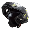 Casco Convertible LS2 ff902 SCOPE Skid Black HV Yellow