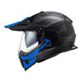 Casco offroad LS2 Helmets MX436 PIONEER EVO Cobra Matt Black Blue