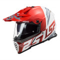 Casco offroad LS2 Helmets MX436 PIONEER EVO Evolve Red White