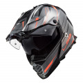 Casco offroad LS2 Helmets MX436 PIONEER EVO Knight Titanium Fluo Orange